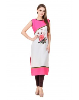 Party Wear Readymade American Crepe Kurti - Omi43