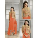 Prachi Desai In Orange Georgette Salwar Suit  - Prachi4111-G