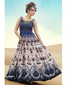 Fancy Multicolour Pure Bhagalpuri Gown - Prestige1018