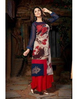 Office Wear Readymade Multi-Colour Georgette Kurti - Pretty2003