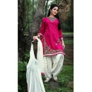 Festival Wear Pink Cotton Patiyala Suit  - PunjabiKudi1008