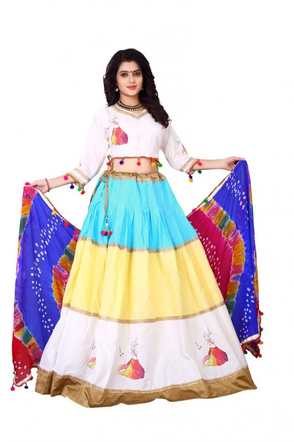 Traditional Cream Lehenga Choli - Ramzat7041