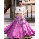Designer Pink & Cream Fancy Lehenga Choli- Ramzat7048