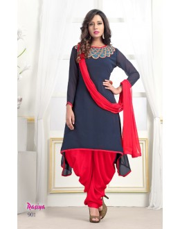 Festival Wear Readymade Blue Georgette Patiyala Suit  - Rasiya901
