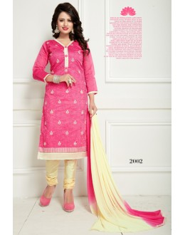 Office Wear Pink Chanderi Salwar Suit  - Ritima2002