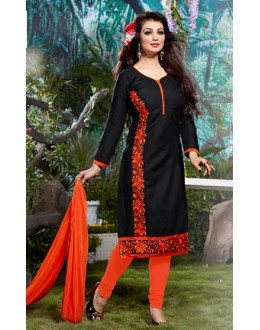 Ayesha Takia In Black Cotton Salwar Suit  - Pandadi03