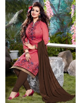Ayesha Takia In Pink Cotton Salwar Suit  - Pandadi04