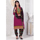 Festival Wear Pink Cotton Jacquard Patiyala Suit  - KACHCHHI07