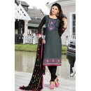 Office Wear Grey & Black Cotton Salwar Suit  - NAVRANG03