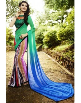 Casual Wear Multicolour Georgette Saree  - Sanskar16102