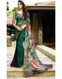 Ethnic Wear Multicolour Georgette Saree  - Sanskar16103