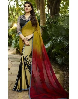 Casual Wear Multicolour Georgette Saree  - Sanskar16105