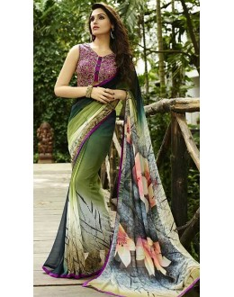 Festival Wear Multicolour Georgette Saree  - Sanskar16109