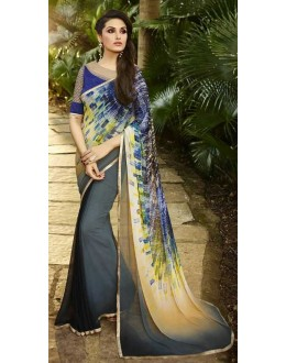 Casual Wear Multicolour Georgette Saree  - Sanskar16112