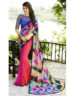 Ethnic Wear Multicolour Georgette Saree  - Sanskar16116
