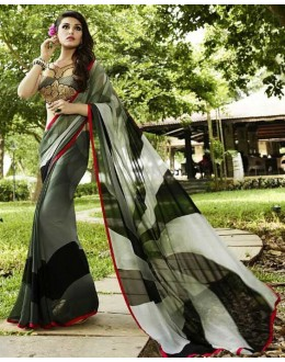 Ethnic Wear Multicolour Georgette Saree  - Sanskar16118