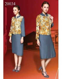 Office Wear Readymade Grey Kurti - Shrushti20034