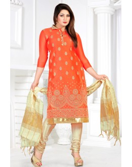 Designer Orange & Beige Salwar Suit - Sultan1003
