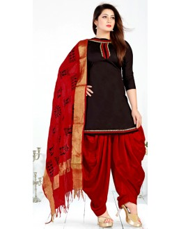 Designer Black & Red Salwar Suit - Sultan1004