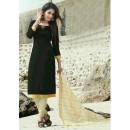 Ethnic Wear Black Cotton Satin Salwar Suit  - SC016Black