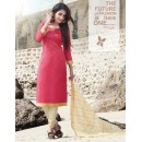 Festival Wear Red Cotton Satin Salwar Suit  - SC016Red