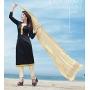 Festival Wear Black Cotton Satin Salwar Suit  - SC017Black
