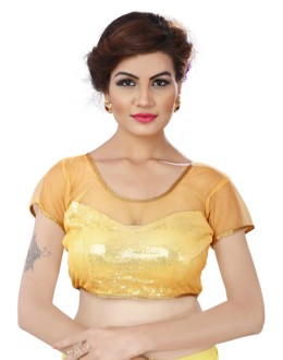 Designer Readymade Yellow  Blouse - TAMANNA06