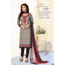 Office Wear Multi-Colour Pure Cotton Salwar Suit - Trishti1502