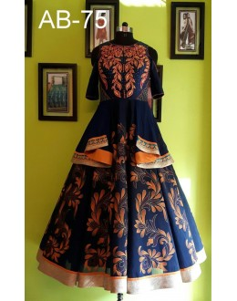 Festival Wear Blue Santoon Lehenga Choli - UttaraAB-75