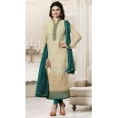 Prachi Desai In Beige & Dark Green Salwar Suit  - Vinay264565