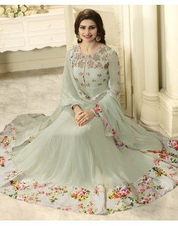 Prachi Desai In Grey Georgette Anarkali Suit  - Vinay284745