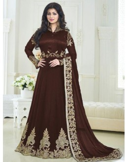 Ayesha Takia In Brown Georgette  Anarkali Suit - Volono179A
