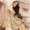 Party Wear Golden Havy Net Anarkali Suit - ZoyaEngaged21001