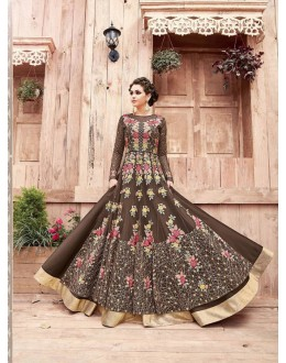 Festival Wear Brown Havy Net Anarkali Suit - ZoyaEngaged21004