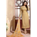 Ayesha Takia In Chickoo Georgette Salwar Suit - ZubedaStraight12505