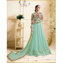 Festival Wear Light Green Georgette Anarkali Suit - Zubeda451
