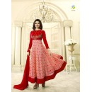 Prachi Desai Red Georgette Anarkali Suit - Prachi4748Red