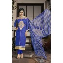 Party wear Blue Georgette Salwar suit - 2005