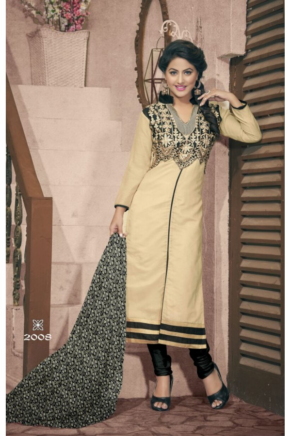 Party wear Golden Georgette Salwar suit - 2008