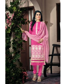 Party wear Pink Georgette Salwar suit - 2004