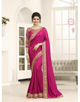 Casual Wear Pink Paper Silk Saree  - Sheesha17706