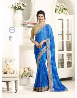 Ethnic Wear Blue Georgette Saree  - Sheesha17707