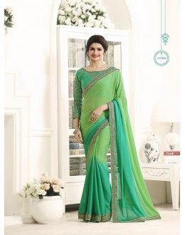 Traditional Wear Green Georgette Saree  - Sheesha17709