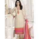 Prachi Desai In Cream French Creap Salwar Suit - Silkina5374