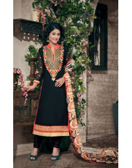 Party wear Black Georgette Salwar suit - 2004
