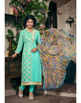 Party wear Blue Georgette Salwar suit - 2007