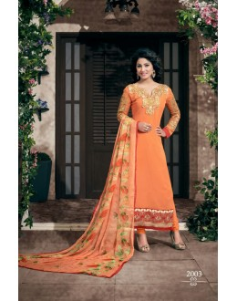 Party wear Orange Georgette Salwar suit - 2003