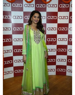 Bollywood Replica - Madhuri Dixit in Parrot Green Shaded Anarkali Dress - D-28 (SIA-D)