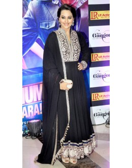 Bollywood Replica - Sonakshi Sinha Black Georgette Long Anarkali Suit - D-13 (SIA-D)