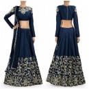 Bollywood Replica - Designer Navy Blue Color Georgette Lehenga - S223 (SIA -S-Series)